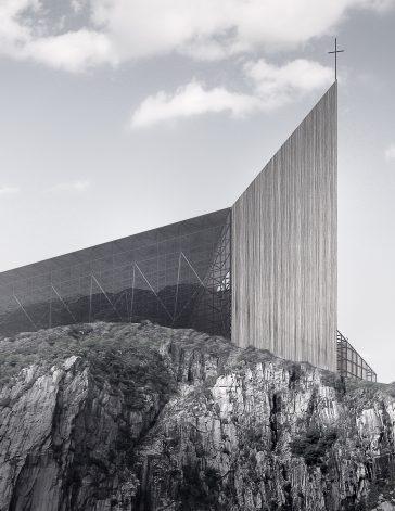 """Съвременна църква """"Стълба към небето"""", Пулпит Рок, от НП Архитекти"""