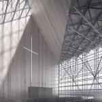 """Интериор на съвременна църква """"Стълба към небето"""", Пулпит Рок, от НП Архитекти"""