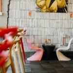 детски кът, цветни дизайнерски мебели, видими тухли, магазин Gelato & Latte, индустриален интериорен дизайн, НП Архитекти