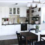 Light white kitchen classic interior design, dining room, DNBD01, NP Architects, Sofia, Bulgaria, architecture